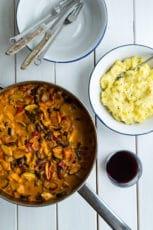 Vegetarisk paprikagryde – vegetarisk gryderet