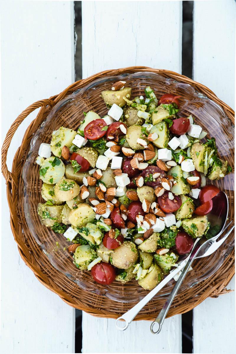 Kartoffelsalat med pesto