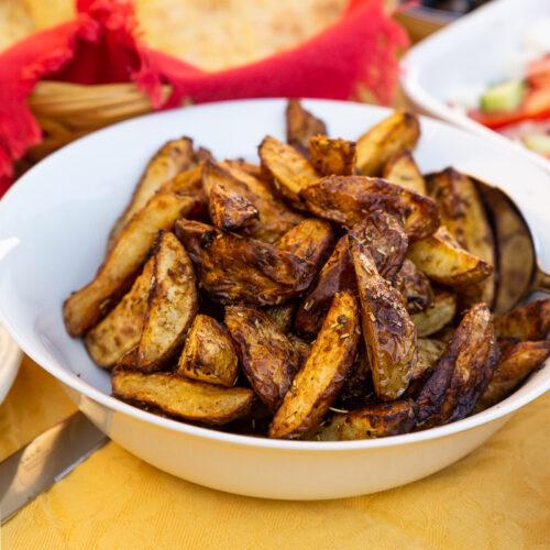 Græske kartofler med krydderier