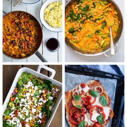 Vegetarisk madplan uge 45