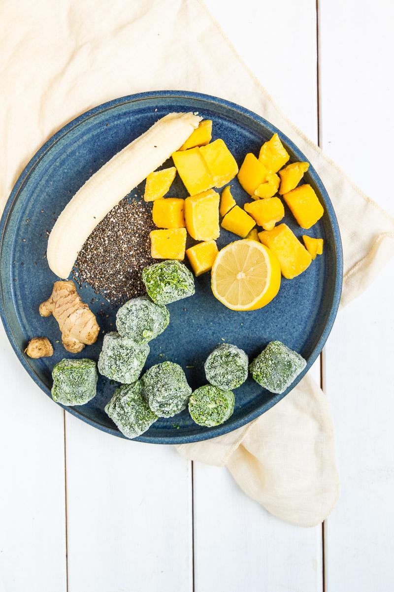 Greenie med mango og ingefær