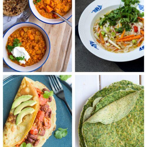 Vegetarisk madplan uge 51