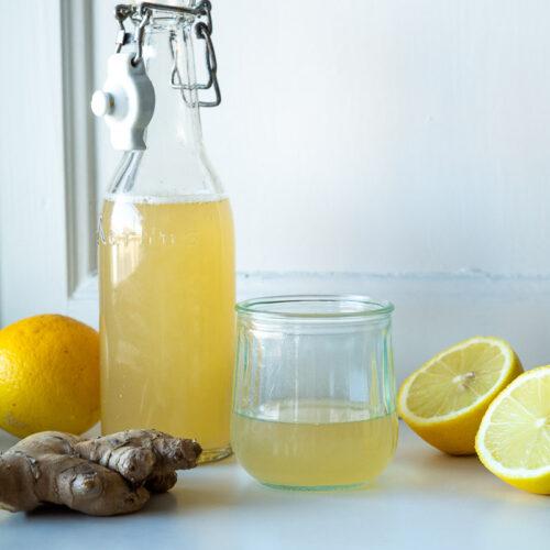 Ingefærshot med citron og honning