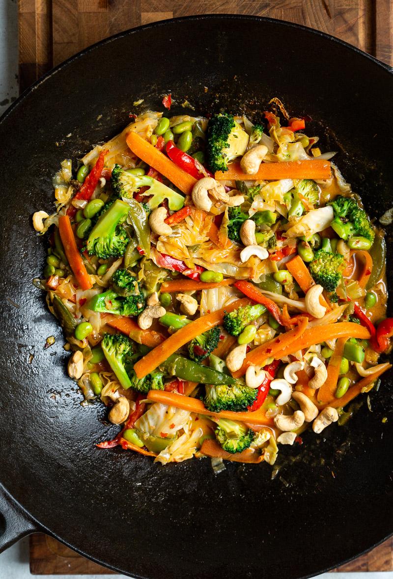 wok med karry