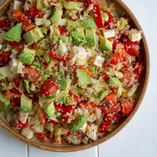 Couscous salat med fetaost og avocado