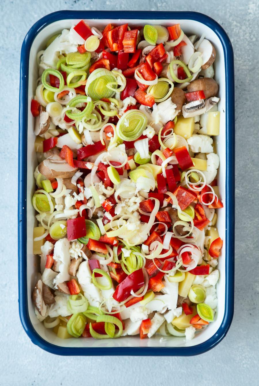Grøntsager i pikantsauce