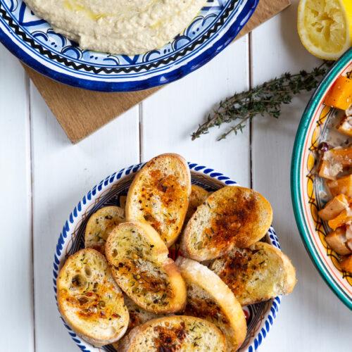 Ristet brød med krydderolie