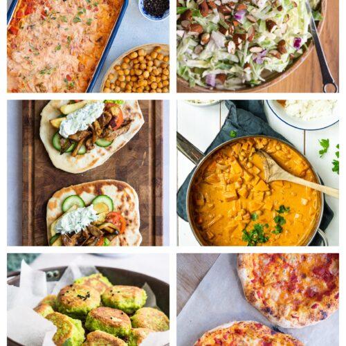 Vegetarisk madplan uge 16