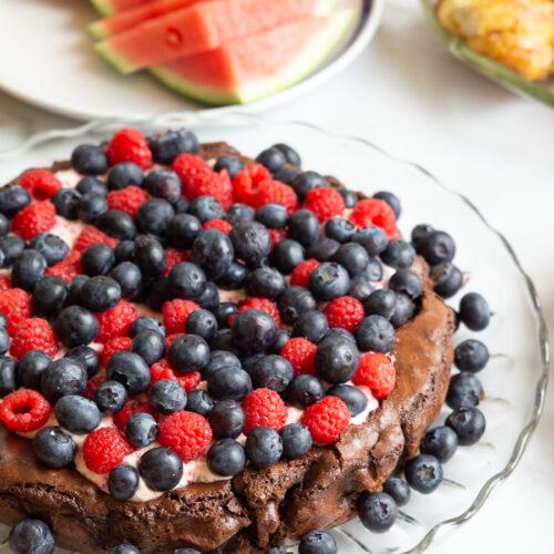 Brownie med bærskum