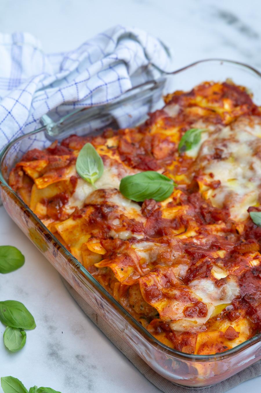 Vegetarisk canneloni med ricotta og spinat