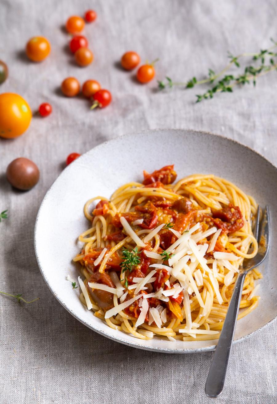 Tomatsauce af friske tomater