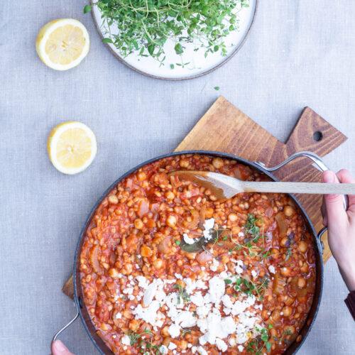 Bygotto med tomat og fetaost