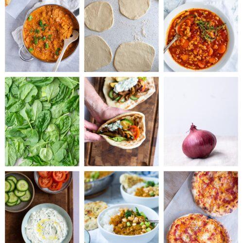 Vegetarisk madplan uge 36