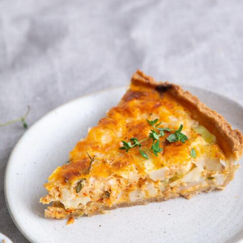 Tærte med knoldselleri og parmesanost